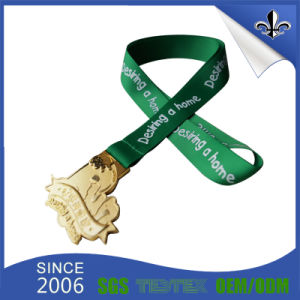 Europe Promotional Cmyk Printed Sublimation Medal Ribbon pictures & photos