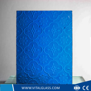 Tinted Figured Glass/Colored Rolled Glass/Diamond Textured Glass/Colored Karatachi Patterned Glass/Bronze Mistlite Stained Glass/Green Nashiji Figured Glass pictures & photos