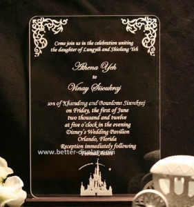 Custom Acrylic Wedding Invitation Card pictures & photos