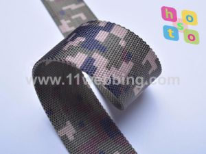 Heat (transfer) Printing Camouflage Polyester Webbing for Military Bag or Army Belt pictures & photos