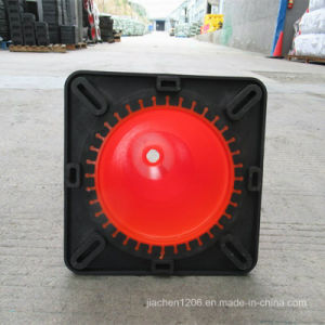 Jiachen Factory 28 Inch PVC Traffic Cone with Black Base pictures & photos