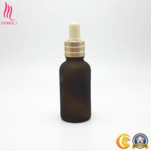 Amber Glass Essential Oil Container with Aluminum Cap pictures & photos