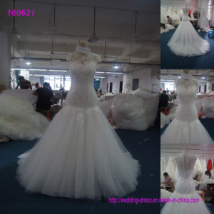 Bride Use and 100%Polyester Material Wedding Dress pictures & photos