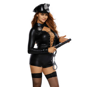 Sexy Carnival Halloween Adult Stylish Female Cop Costume pictures & photos