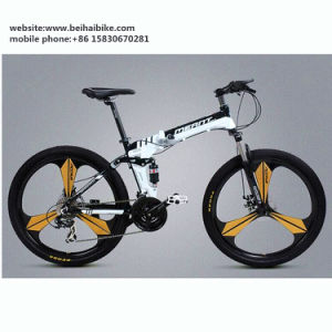 26′′ Inch Cheap Aluminum Alloy One Piece Wheel Fat Bicycle Folding Road Mountain Bike pictures & photos