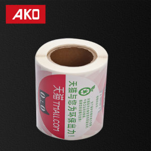 Custom Size BOPP Liner Hot Melt Adhesive Labels on Roll pictures & photos