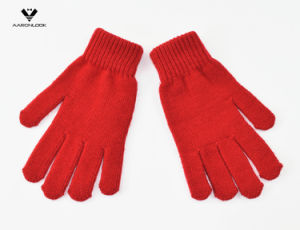 Promotional Solid Color Acrylic Knitted Magic Glove pictures & photos