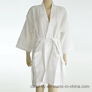 Hotel Textile Cotton Waffle Bathrobe pictures & photos