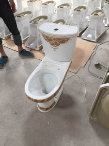 839 Economic Water Closet Wash Down Two Piece Ceramic Toilet pictures & photos
