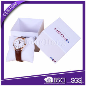 Factory Customized Logo Luxury Paper Watch Box with Pillow pictures & photos