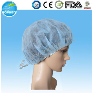 Nonwoven SBPP Round Cap Disposable Hospital Bouffant Cap pictures & photos