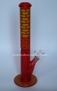 """16"""" Red Painting Straight Assorted Glass Water Pipes Smoking Bubbler Glass Pipe pictures & photos"""