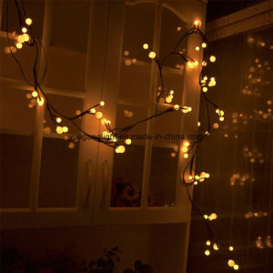 2.5m72LEDs Black Rattan String Light with 8 Function Modes LED String Light pictures & photos