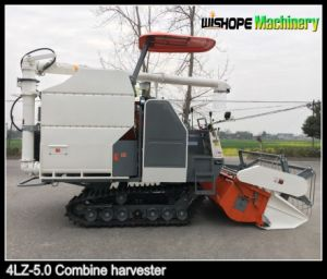 Wishope 4lz-5.0 Big Power Rice Combine Harvester for Sale in Pakistan pictures & photos