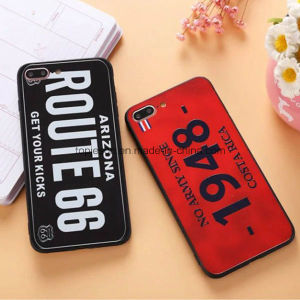 New Arrival Creative License Plate Anti Shock Matte Phone Case for iPhone 7/7 Plus pictures & photos