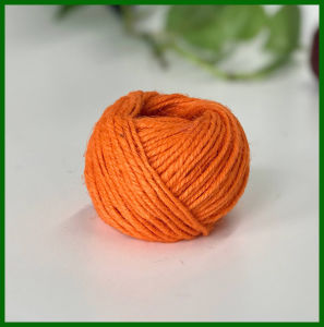 Dyed Jute Fiber Yarn (Orange) pictures & photos