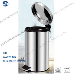 High Quality Full Stainless Steel Trash Can 30L pictures & photos
