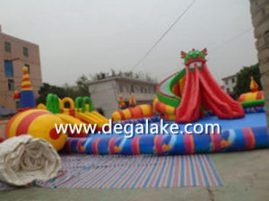 Giant Inflatable Fire Dragon Water Park for Amusement pictures & photos