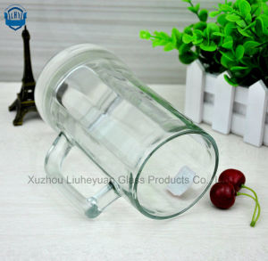 600ml High Grade Glass, High Clear, Beer Glass Cup with Handle pictures & photos