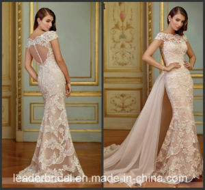 Beatu Bridal Gowns Lace Tulle Mermaid Pink Wedding Dress M2872 pictures & photos