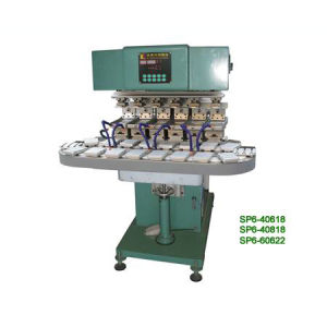 Six Colours Conveyer Pad Printer (SP6-40618 SP6-60622W)