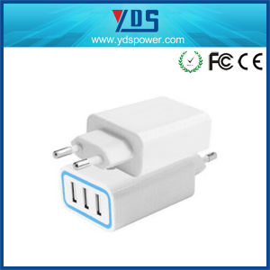 Factory 3 USB Port Fast Charger Mobile Phone Wall Travel Charger pictures & photos