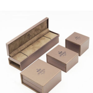 Delicate Square Rectangle PU Leather Jewelry Box (J54-E1) pictures & photos