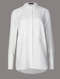 Pure Linen Plain Slim Fit Work Shirt pictures & photos