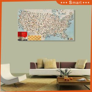 The Map Design UV Printed on Wall Panel for Home Decoration pictures & photos