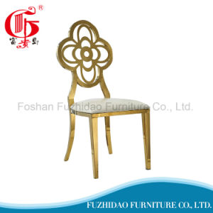 Luxury High Quality Stainless Steel Dining Chair for Slaes pictures & photos