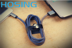 Denim Jean USB Data Charge Cable for Micro 5pin 8pin pictures & photos