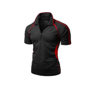 China Factory Fashion Dry-Fit Elastic Black Polo Tshirt for Men pictures & photos