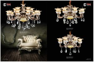 Anti-Brass Zinc Alloy European Chandelier Light pictures & photos
