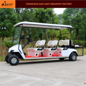 8 Seater Electric Golf Cart (CE approved golf cart with rear back folding seats) pictures & photos