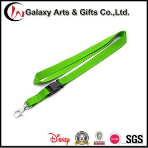 20mm Green Polyester Plain Lanyard with Plastic Buckle