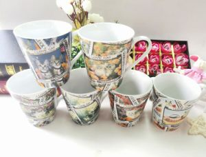 Glazed Ceramic Mug Outside Color and Inside White Stoneware Cups pictures & photos