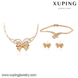 64015 Fashion Luxury Zircon Butterfly Jewelry Wedding Set pictures & photos