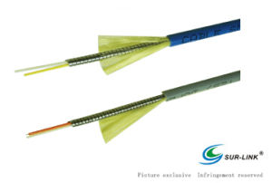 LSZH PU or PVC Duplex Armored Optical Fiber Cable pictures & photos