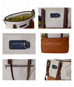 Women′s Nice Quality Soft PU Leather Tote Bag pictures & photos