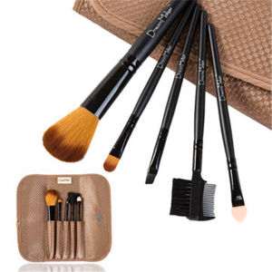 Portable 5 PCS Pounch Case Eyeshadow Kit Beauty Makeup Brush Set pictures & photos