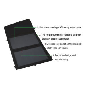 10W Folding 5V 2A Solar Panel USB Charger for Cellphone Tablet PC pictures & photos