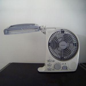 Portable Solar Brand Rechargeable Mini Fan Lamp pictures & photos