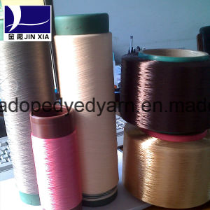 600d/192f Dope Dyed Polyester Filament Yarn DTY pictures & photos