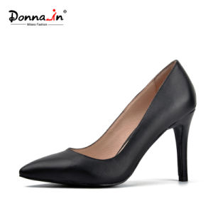 Lady Pointed Toe High Heels Pumps Women Leather Dress Shoes