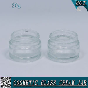 20ml Clear Cosmetic Glass Cream Jar with Aluminum Lids pictures & photos