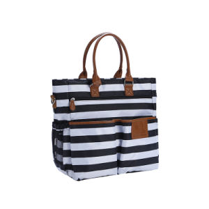 Striped Bag High-Volume Multi-Functional Handbag Oxford Bag pictures & photos