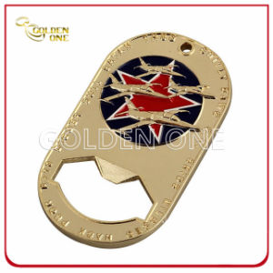 Creative Design Gold Plated Soft Enamel Bottle Opener pictures & photos
