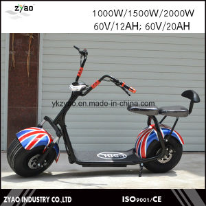 Product E-Scooter City Coco 2 Wheels Electric Motorcycle, 1000W Adult Electric City Scooter pictures & photos