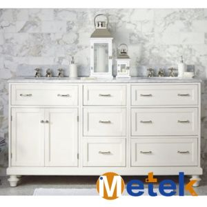 American Cheap Wooden Vanity Bathroom Cabinet pictures & photos
