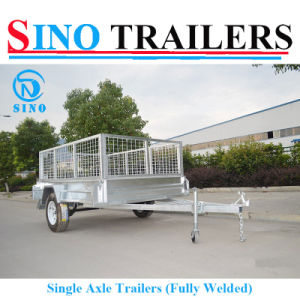 Flat Steel Fully Welded Single Cage Trailers